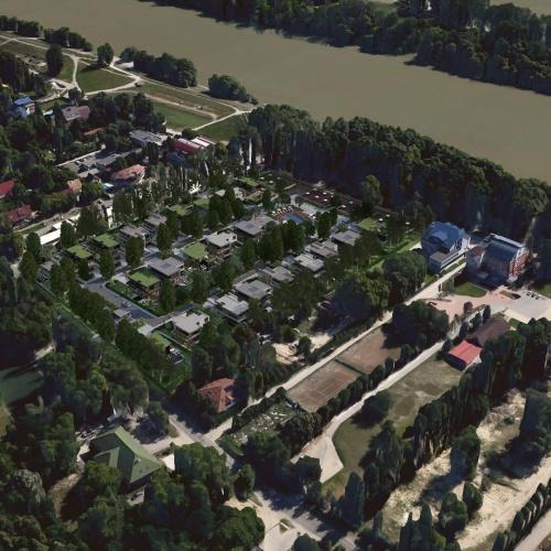 A The Village villapark a III. kerület egyik legkedveltebb részén a Római parton